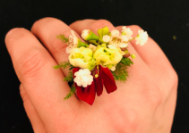 Red Whimsy Ring Corsage