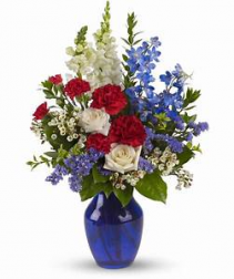 Red White and Blue Fresh Flowers