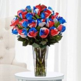 SOLD OUT Red /white/ and Blue roses