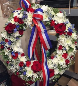 We Salute You Sympathy Wreath