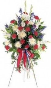 Red, White and Blue Tribute Standing Spray
