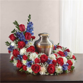 Red, White and Blue Urn Wreath