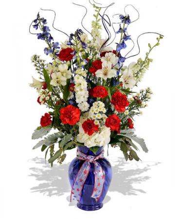 Red, White, and Blue  Vase Arrangement