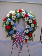 Red, White and Blue Wreath Sympathy
