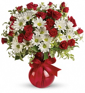 Red White And You Fresh Arrangement