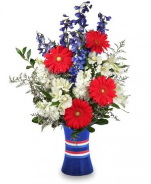 Red, White & Beautiful Bouquet of Flowers in Sheridan, WY | BABES FLOWERS, INC.