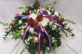 Red, White & Blue Casket Spray Casket Spray