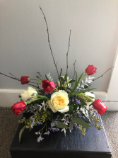 Red, White & Blue Centerpiece  Patriotic Arrangement