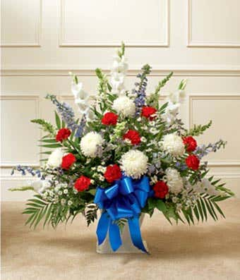 Red, White, & Blue Funeral Basket