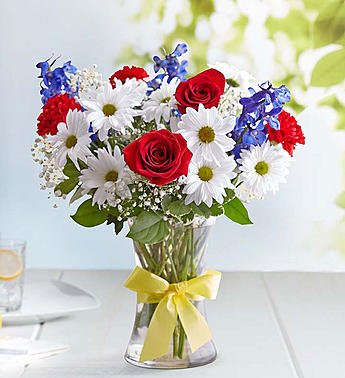 Red White & Blue Memorial arrangement