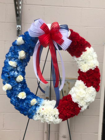 Red, White & Blue Patriotic Wreath Wreath