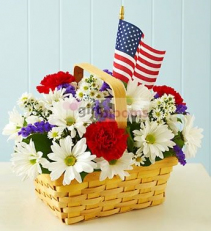 Red White Blue Salute Basket