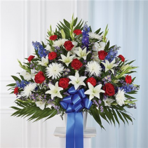Red, White & Blue Standing basket