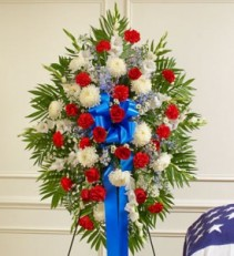 Red, White & Blue Standing Spay
