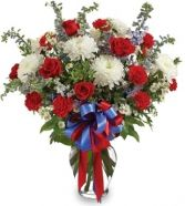 RED, WHITE & BLUE SYMPATHY ARRANGEMENT
