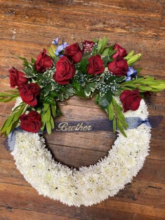 Red White & Blue Sympathy Wreath Sympathy Wreath