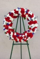 Red, White, & Blue Wreath Spray