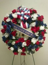 Red, White & blue Wreath Sympathy