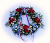 Red, White . Blue Wreath
