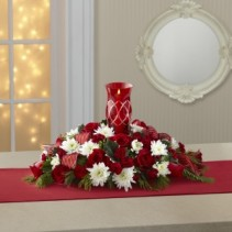 Red & White Centerpiece  holiday