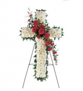 Red & White Cross Cross Spray