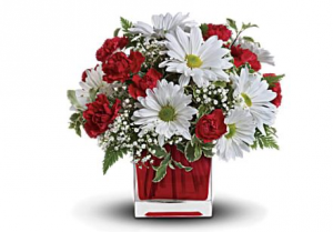 Red & White Delight Bouquet in Bryan, OH | Farrell's Lawn & Garden and Flowers