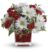 RED & WHITE DELIGHT  FLORAL DESIGN