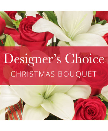 Red & White Designers Choice Christmas Bouquet