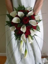 Red & White Elegant Bouquet