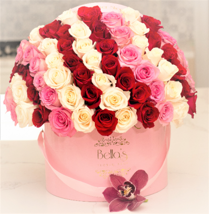 Red, White &....Pink 60 Fresh Roses
