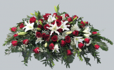 Red & White Remembrance Casket Blanket