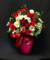 Red & White Romance Red and white floral mix