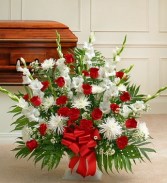 Red & White Sympathy Funeral