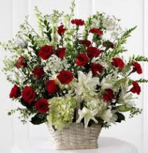 red & White Tribute Basket