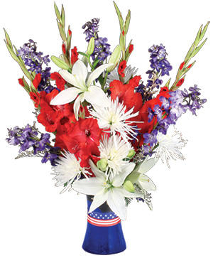 Red White & True Blue Floral Arrangement in Ozone Park, NY | Heavenly Florist