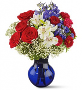 Red White & True Floral Bouquet