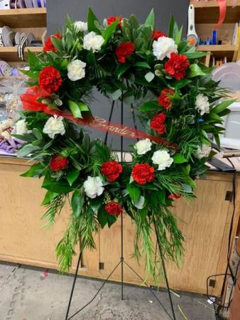Red & White wreath