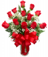 Red with Romance Rose Arrangement