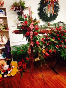 red wooden cross   in Angier, NC | JABEZ FLORISTRY