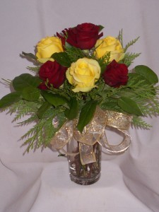 RED & YELLOW VELVET - Anniversary Roses Prince George BC.  Flowers Roses Gifts Prince George BC. Chocolates & Gifts
