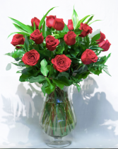 Reddy for Love Vase Arrangement