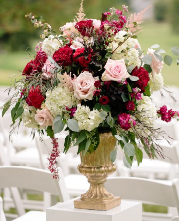Reds and Pinks Urn Sympathy