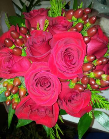 Reds & Greens Bridal Bouquet