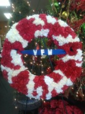 Patriotic Wreath Sympathy Tribute