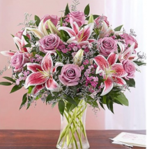 Reflections Of Love™ in a Clear Vase Arrangement