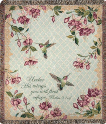 Refuge Under His Wings Tapestry Throw