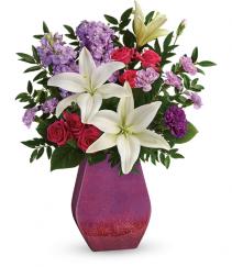 Regal Blossoms Vase Bouquet
