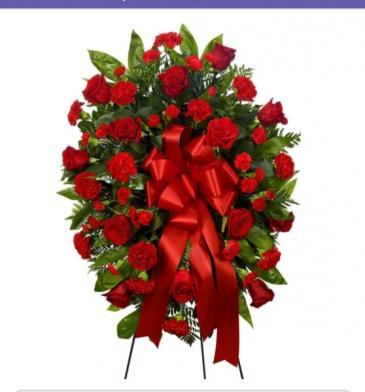 regular funeral wreath  # 2 rosas
