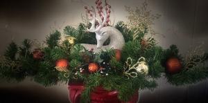 Reindeer  Centerpiece Artificial in Bartlett, TN | BARTLETT FLORIST