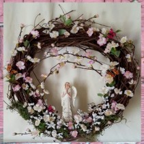 Rejoice In The Lord Wreath artificial flower